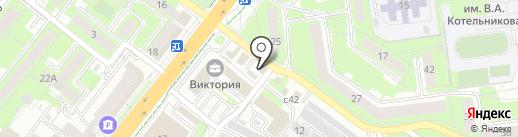 Этюд на карте Липецка