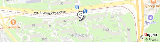 Почтовое отделение №54 на карте Липецка