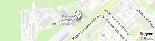 Ёлочка на карте Липецка