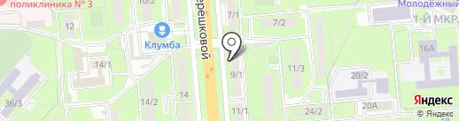 Колос на карте Липецка