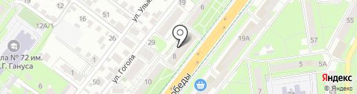 Хуан Хэ на карте Липецка