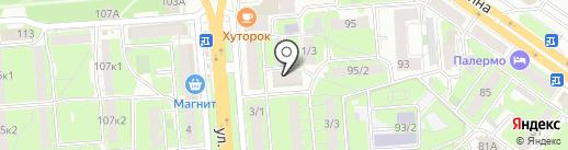 Радуга на карте Липецка