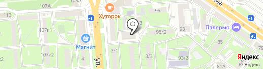 Перун на карте Липецка