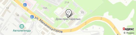 Дом-интернат для престарелых и инвалидов на карте Липецка