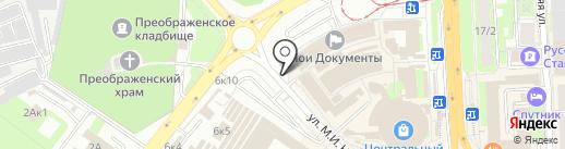 Киоск по ремонту часов на карте Липецка