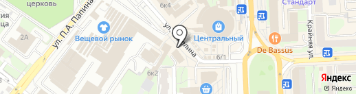 Киоск по продаже овощей на карте Липецка