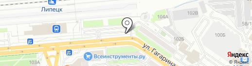 На ЖД на карте Липецка