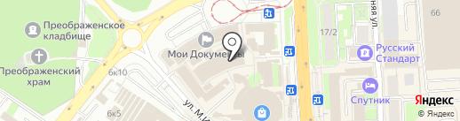 Церковная лавка на площади Победы на карте Липецка