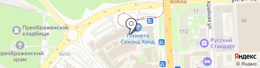 Магазин ковров на карте Липецка