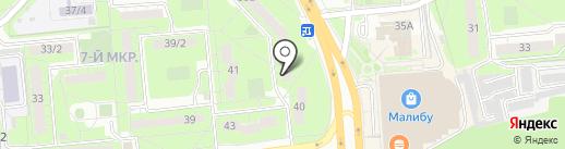 Авантаж на карте Липецка