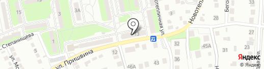 Продовольственный магазин №127 на карте Липецка