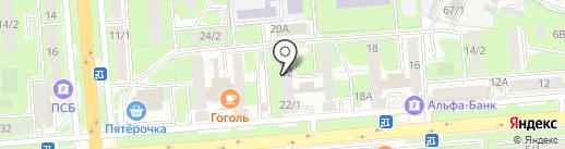 Шампур на карте Липецка