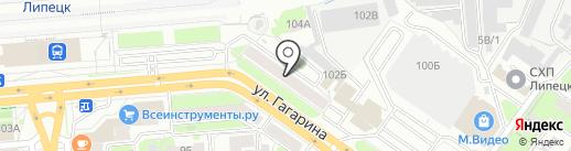 Флекс-АЗС на карте Липецка