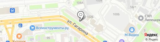 Виктори на карте Липецка