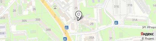 Севани на карте Липецка
