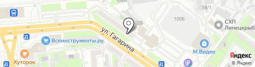 Стрит на карте Липецка