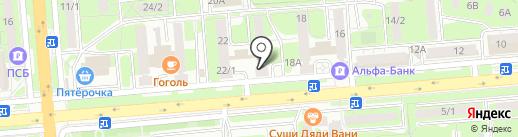 Банк УралСиб на карте Липецка