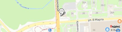 Рай на карте Липецка