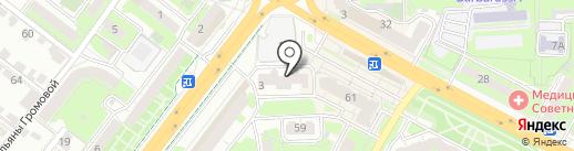 Аптека на Победы на карте Липецка