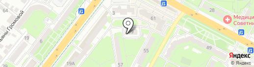 Печкин на карте Липецка