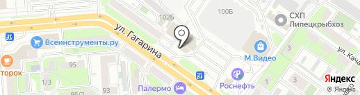 РН-Карт на карте Липецка