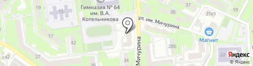 Ориентир на карте Липецка