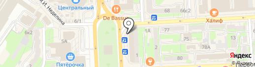 Малина на карте Липецка