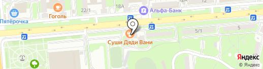 Ансена на карте Липецка