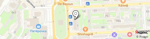 Гравер на карте Липецка