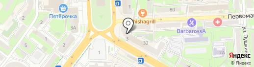 Pion на карте Липецка