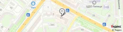 Бинбанк, ПАО на карте Липецка
