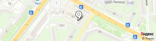 Банк ВТБ 24 на карте Липецка