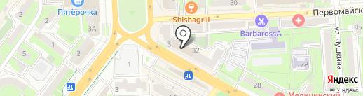 Леди Лю на карте Липецка