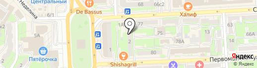Адвокатский кабинет Гункиной О.И. на карте Липецка