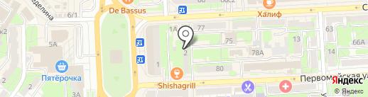 Архитектор Козубенко на карте Липецка