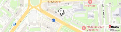 Магазин автотоваров на карте Липецка