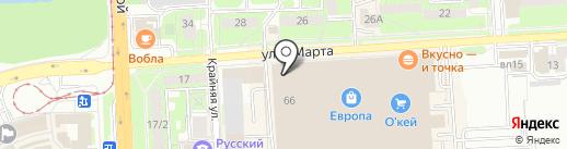 Modis на карте Липецка