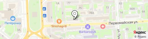 Нотариус Андреева Т.М. на карте Липецка