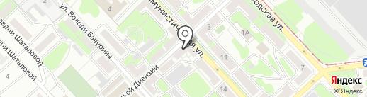 Книжный магазин на ул. 6 Гвардейской Дивизии на карте Липецка