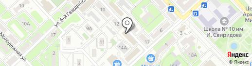 Магазин по продаже и обмену книг на карте Липецка