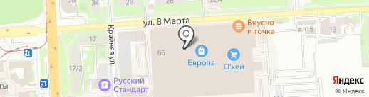 София на карте Липецка