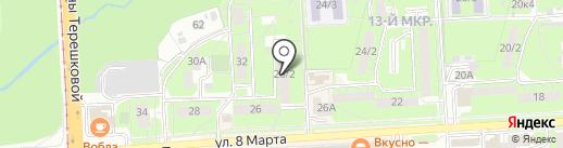 НВЛ на карте Липецка