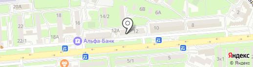 Семицвет на карте Липецка