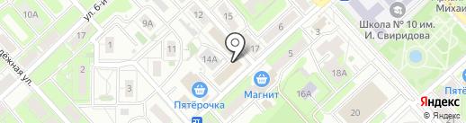 Евгения на карте Липецка