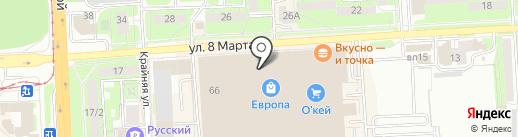 Monsorro на карте Липецка