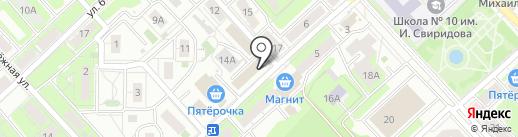 Магазин постельных принадлежностей и тканей на карте Липецка