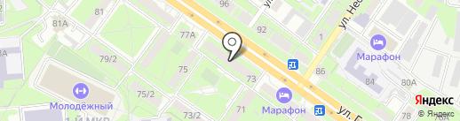 Спутник-Липецк на карте Липецка