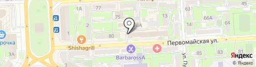 Деловой стиль на карте Липецка