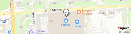 Чехольчик на карте Липецка
