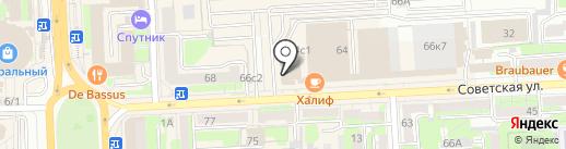 Липецкий региональный проект на карте Липецка